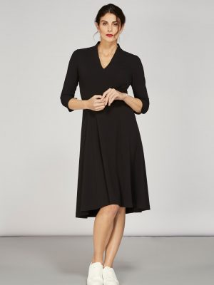 Alice Fawke - dress for a fuller bust - Thea dress black
