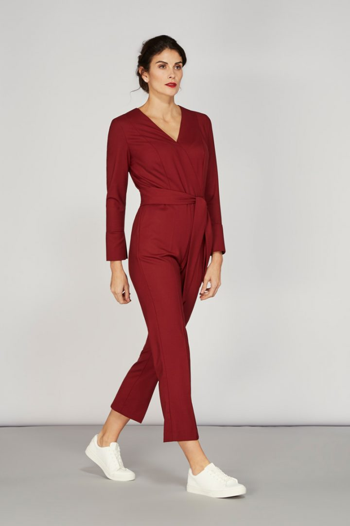 Alice Fawke - jumpsuit for a big bust - Petrie jumpsuit - maroon