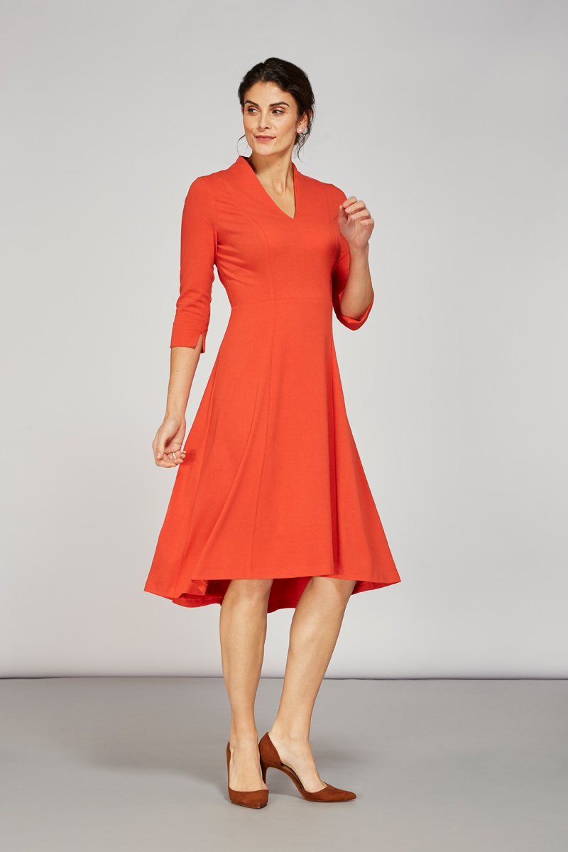 Alice Fawke - dress for a big bust - Thea dress orange