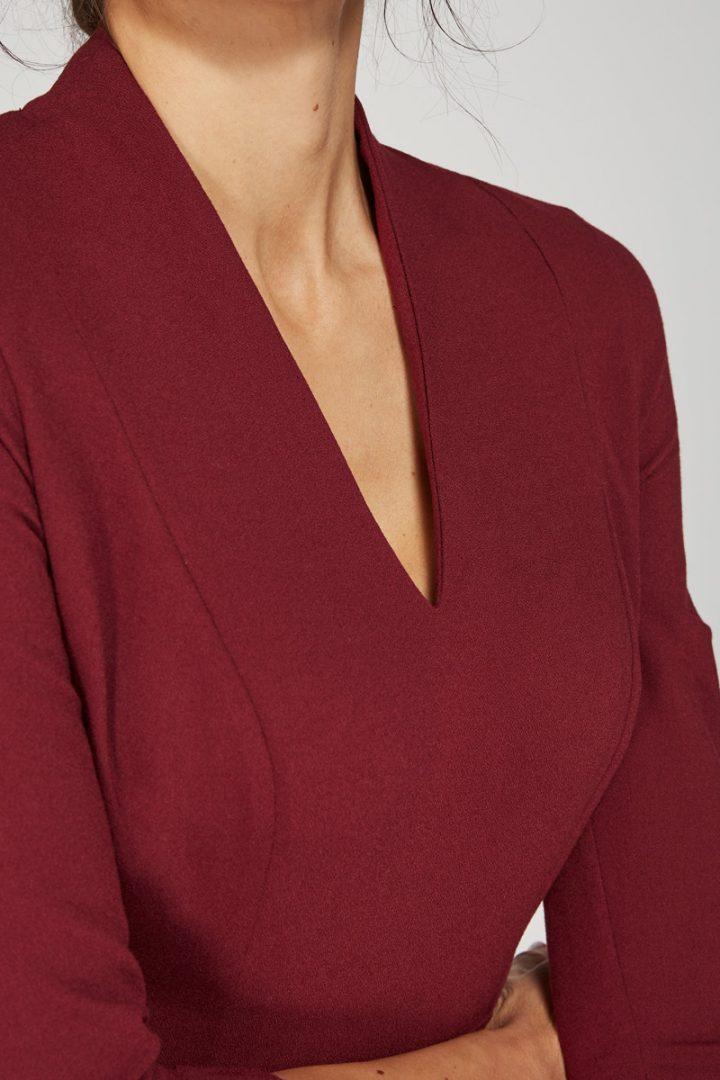 Alice Fawke - bust friendly dress - Thea dress maroon
