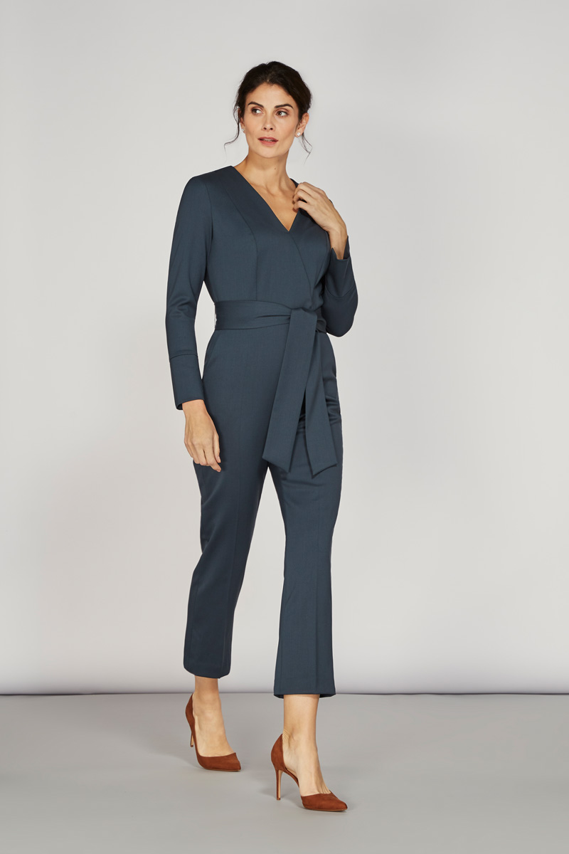 Alice Fawke - jumpsuit for a fuller bust - Petrie jumpsuit - teal