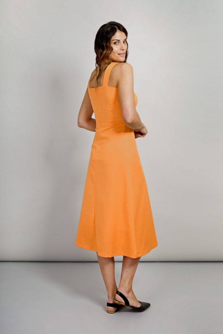 Alice Fawke - Summer dress for a fuller bust - Lucy dress - sun colour