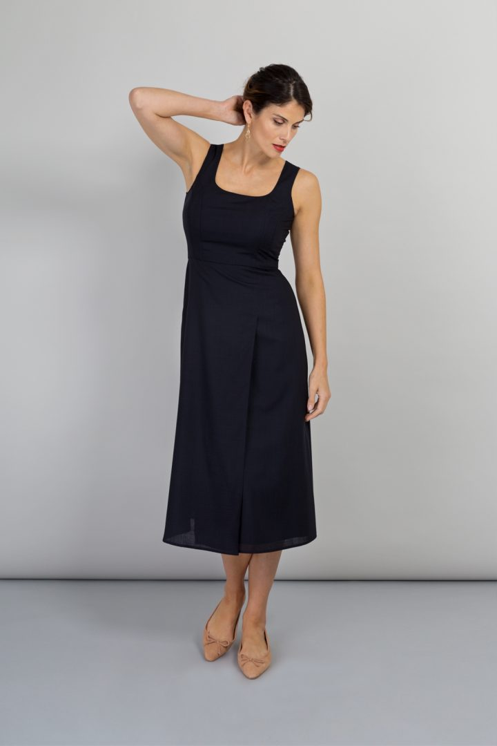 Alice Fawke - dress to fit your fuller bust - Amy dress - navy