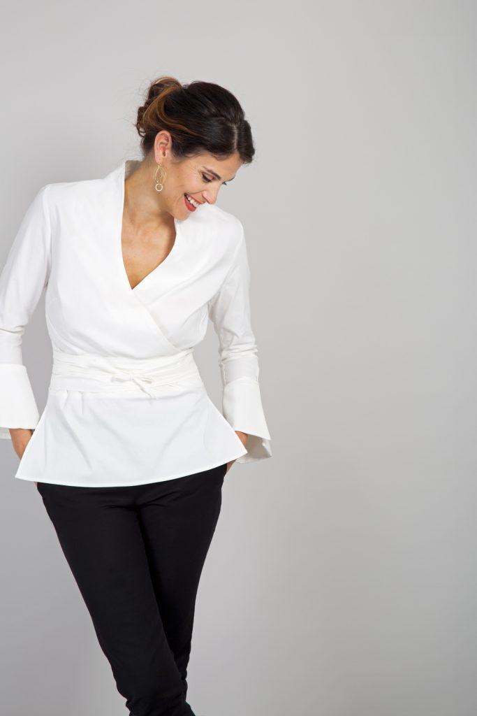 fuller bust shirt, DD+ shirt, bigger bust blouse, bigger bust wrap shirt, DD+ clothing
